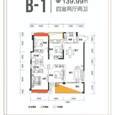 城东瑜悦府B-1户型户型图