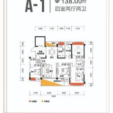 城东瑜悦府A-1户型户型图