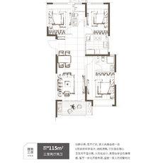 保利時代雅致三房戶型圖