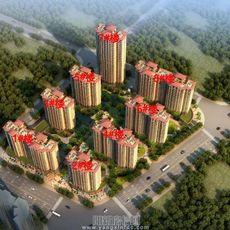 華申山景城鳥瞰圖